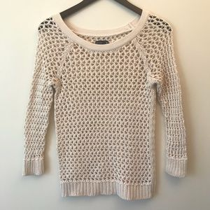 American Eagle Outfitters Lace Crocheted Sweater